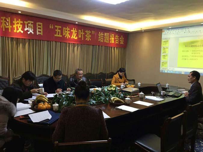 热烈祝贺五味龙叶茶科技项目报告会圆满结题